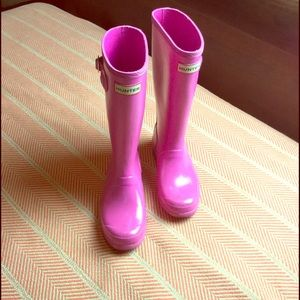 Hunter pink kids boot
